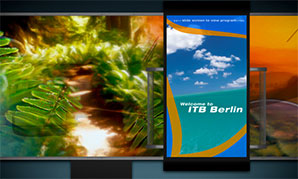 ITB Berlin I-Wall Experience - Screensaver View