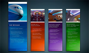 Dreamliner exhibit visual concept - banners